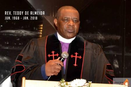 Faleceu o Pastor Teddy de Almeida fundador do Aleluia Ministries International