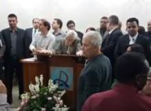 Pastor Salatiel no púlpito da Assembleia de Deus. (Foto- Reprodução : Facebook)