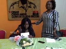 Lioth Cassoma autografou a sua primeira obra literária na União dos Escritóres Angolanos