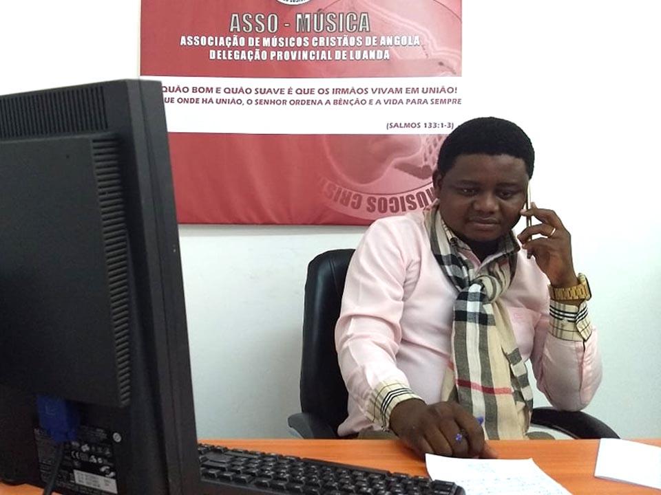 Luís Capoco delegado provincial de Asso-Música em Luanda.