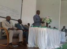 Reverendo Julião Jundo Katemba, falando aos presentes.