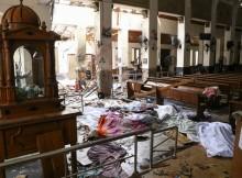 Pessoas mortas após atentado em igreja de Santo Antônio em Colombo, Sri Lanka, neste domingo 21. (Foto: AFP)