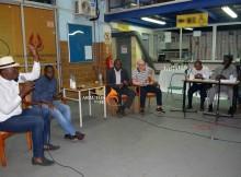 """Michelino Ngombo, Armando Zibungana, Rev. Ovídio de Freitas e Manuel Fiel, foram convidados do debate que teve moderação de Francisco Gonçalves """"Charro""""."""